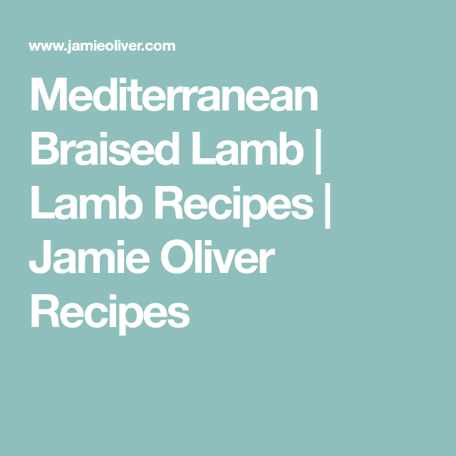 Mediterranean Braised Lamb And Couscous Recipe In 2018 Slow