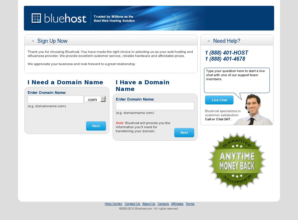Bluehost cheap. High quality hosting. Money back guarantee
