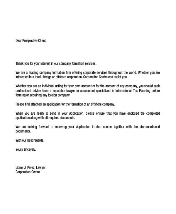 Client Letter Templates Free Sample Example Format Download