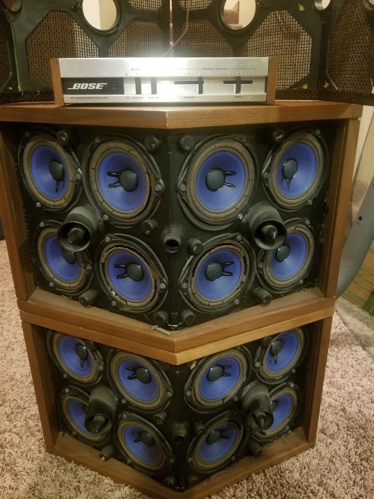 Vintage Bose 901 Speakers Vintage Speakers Speaker Box Design Audiophile Speakers
