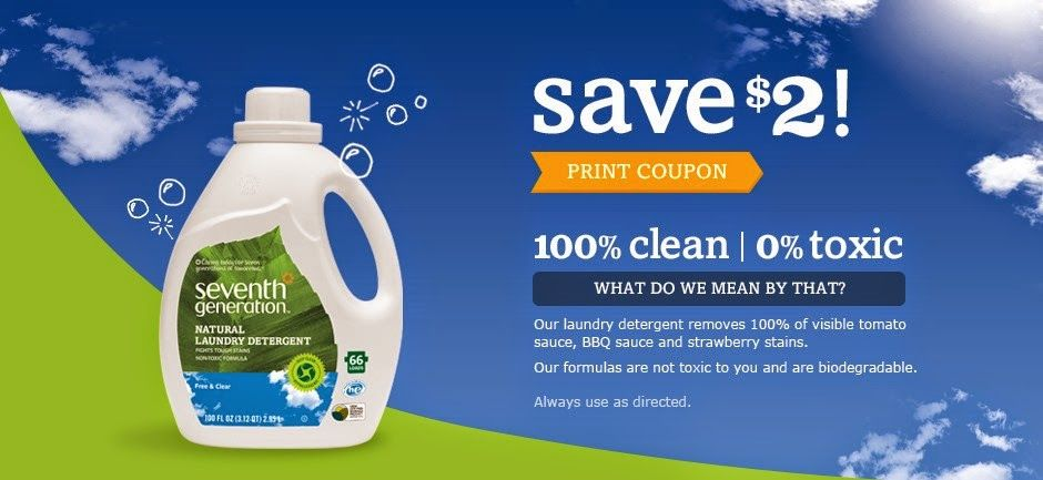 Save Big on Seventh Generation Laundry Essentials!