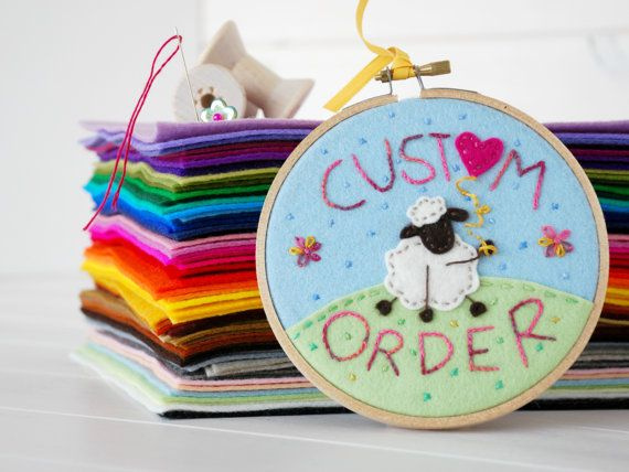 100% Pure Wool Felt - 62 Colors  https://www.etsy.com/shop/CraftyWoolFelt?ref=si_shop