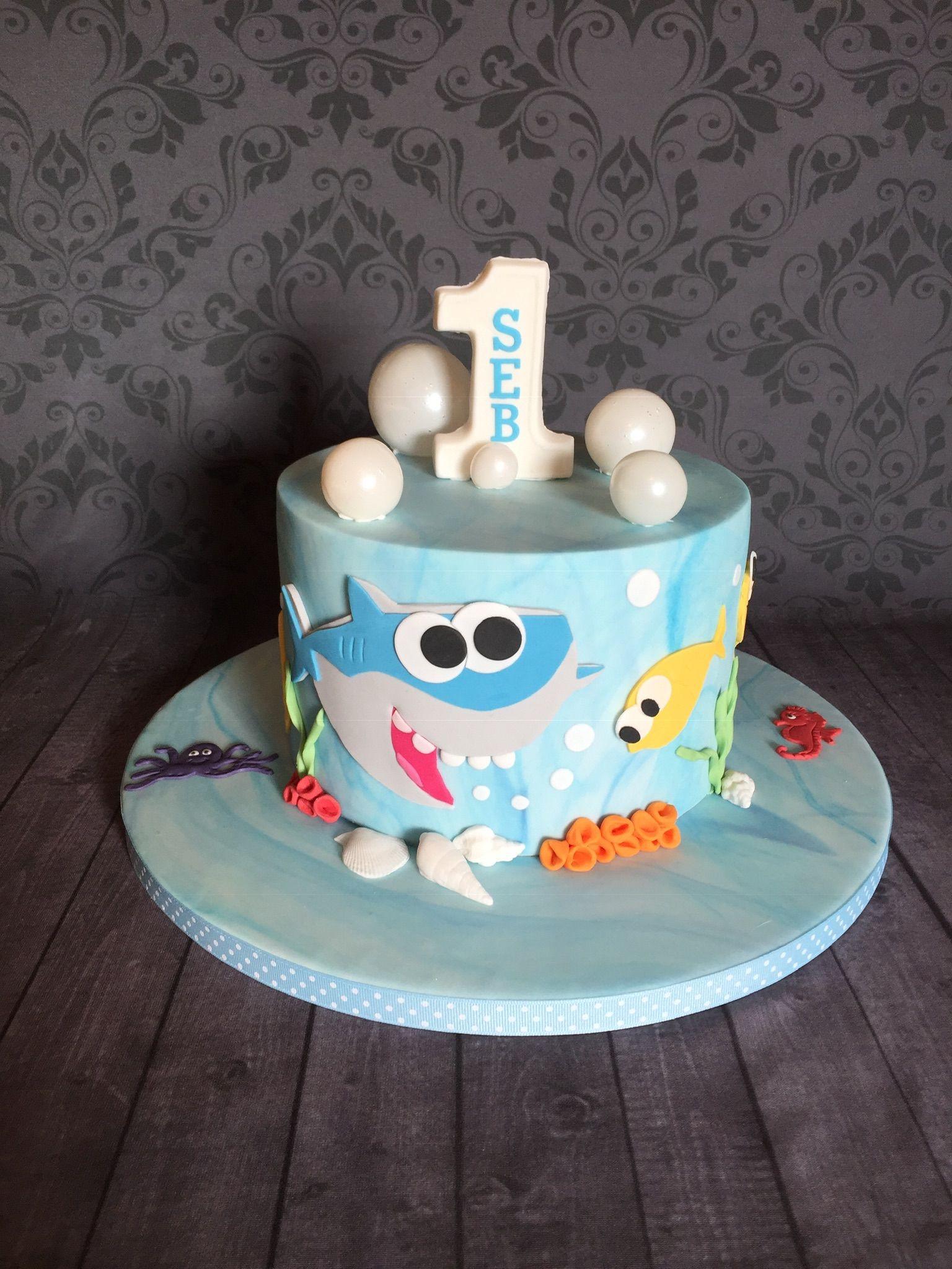 Baby shark 1st birthday cake 1st birthday cake cake