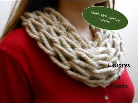 Como tejer bufanda infinita circular Tubular fácil - knitting scarf ...