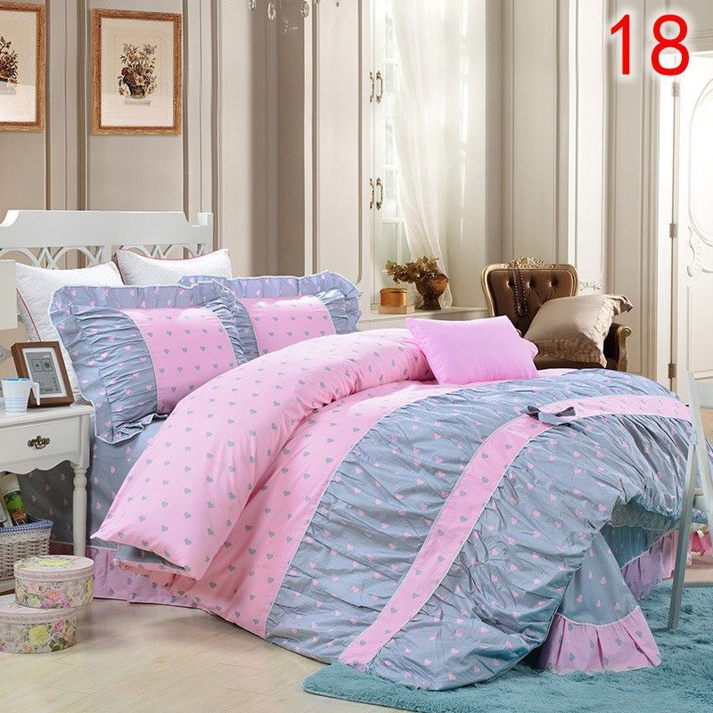 Yadidi 100 Cotton Classic Princess Polka Dot Girls Bedding Sets