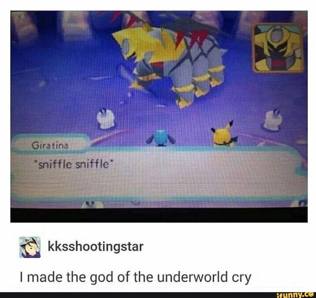 I Made The God Of The Underworld Cry Ifunny Pokemon Memes Pokemon Pokemon Funny