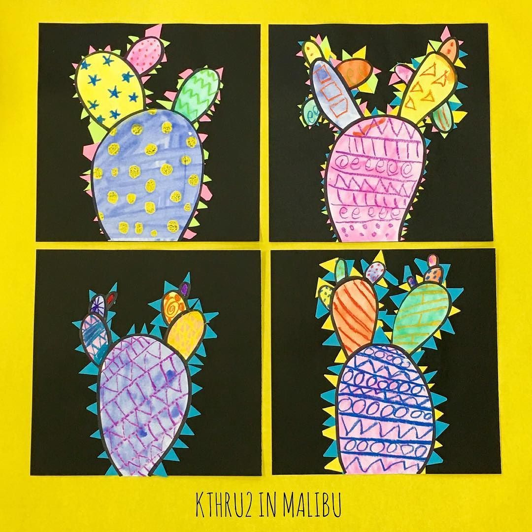 Easy Cactus Craft 1quick Directed Draw 2use Crayons For
