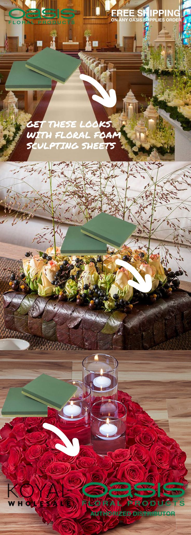 Oasis sculpting sheet floral foam squares florals