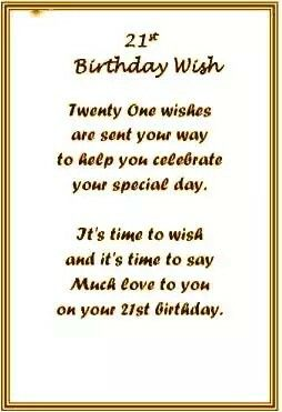 21st Birthday Wish Poems For Daughter Clipart Happy