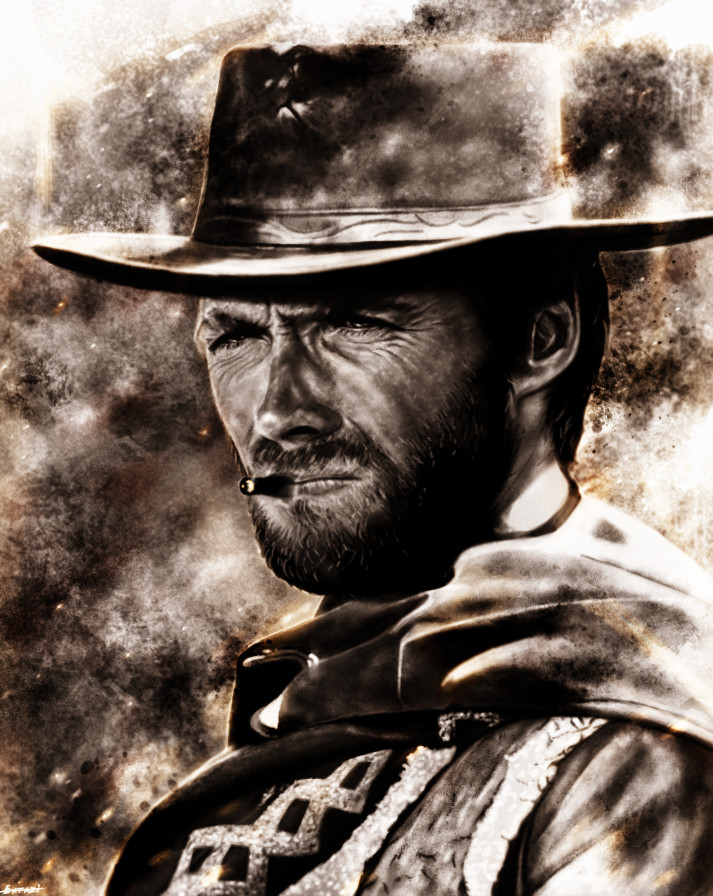 Artstation Clint Eastwood Andrey Pankov Clint Clint Eastwood Cowboy Clint Eastwood