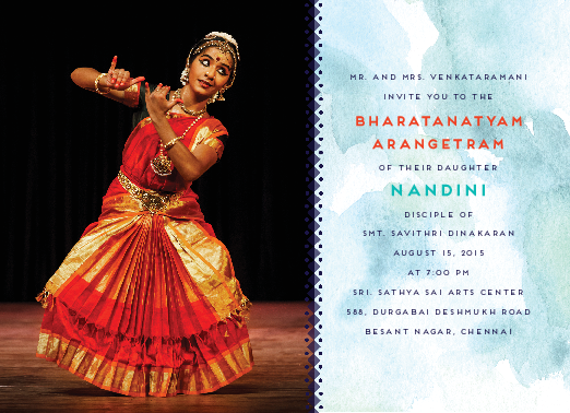 Daring Dancer Arangetram Invitations Arangetram Invitations