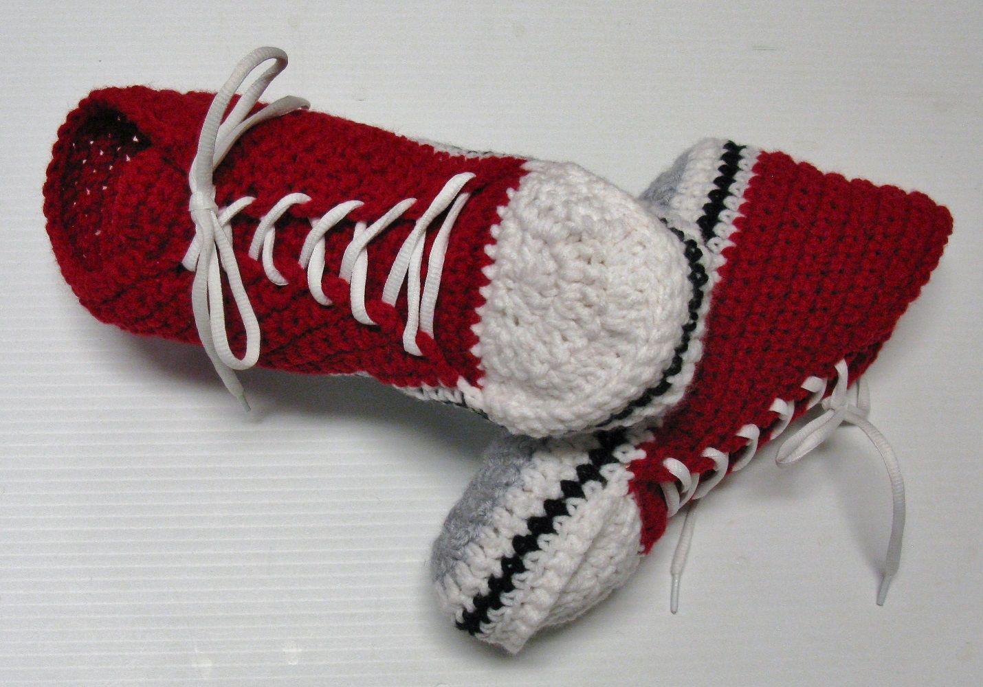 Patron Pdf 21 Pantoufles Espadrilles Hautes Au Crochet Pour