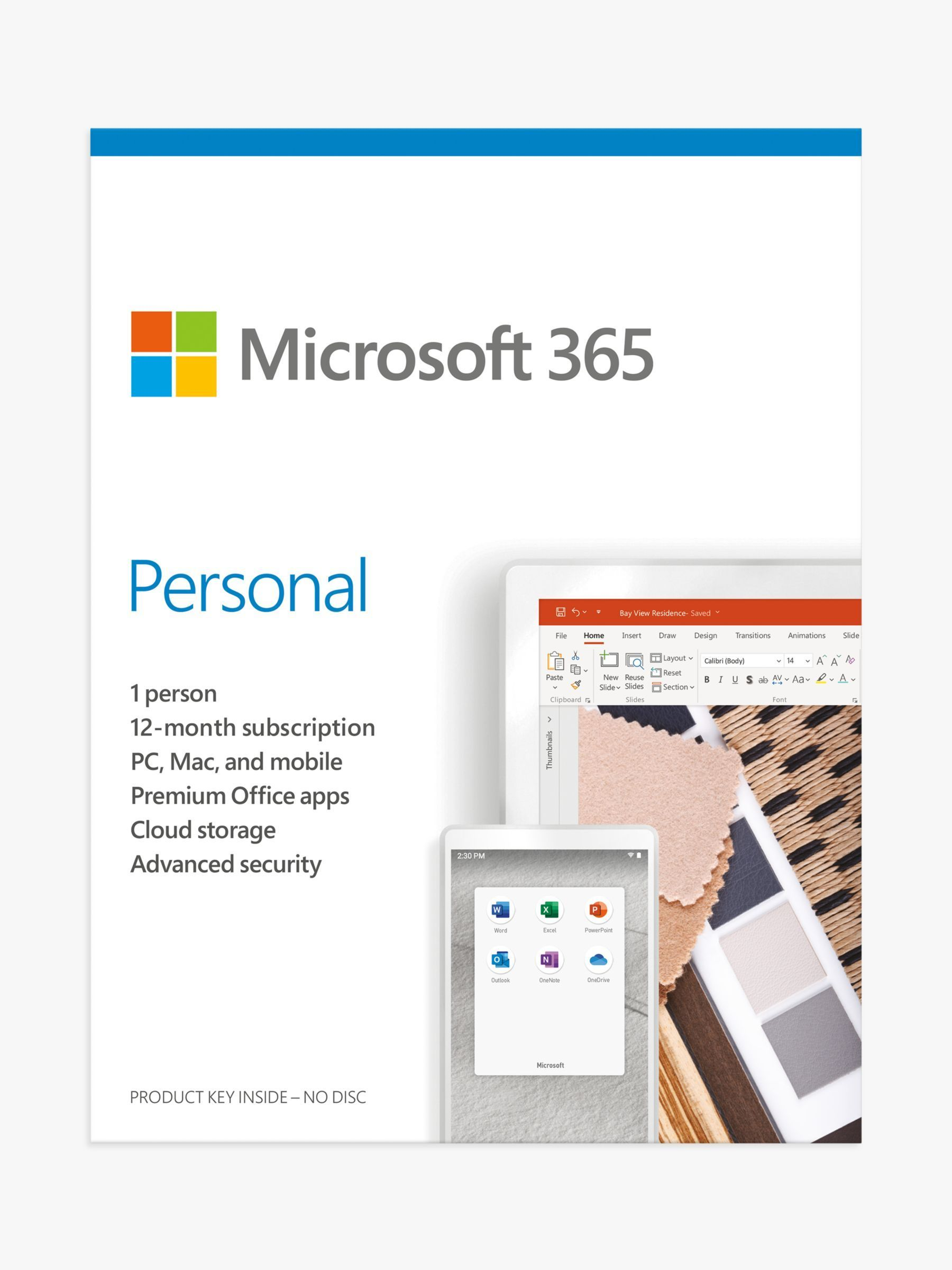 Microsoft 365 Personal, Office Software, PC/Mac, Tablets