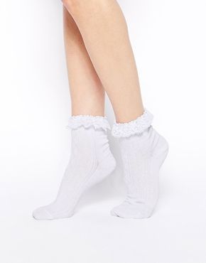9d0932ce5 ASOS Lace Trim Ankle Socks | archives | Socks, Ankle socks, Asos