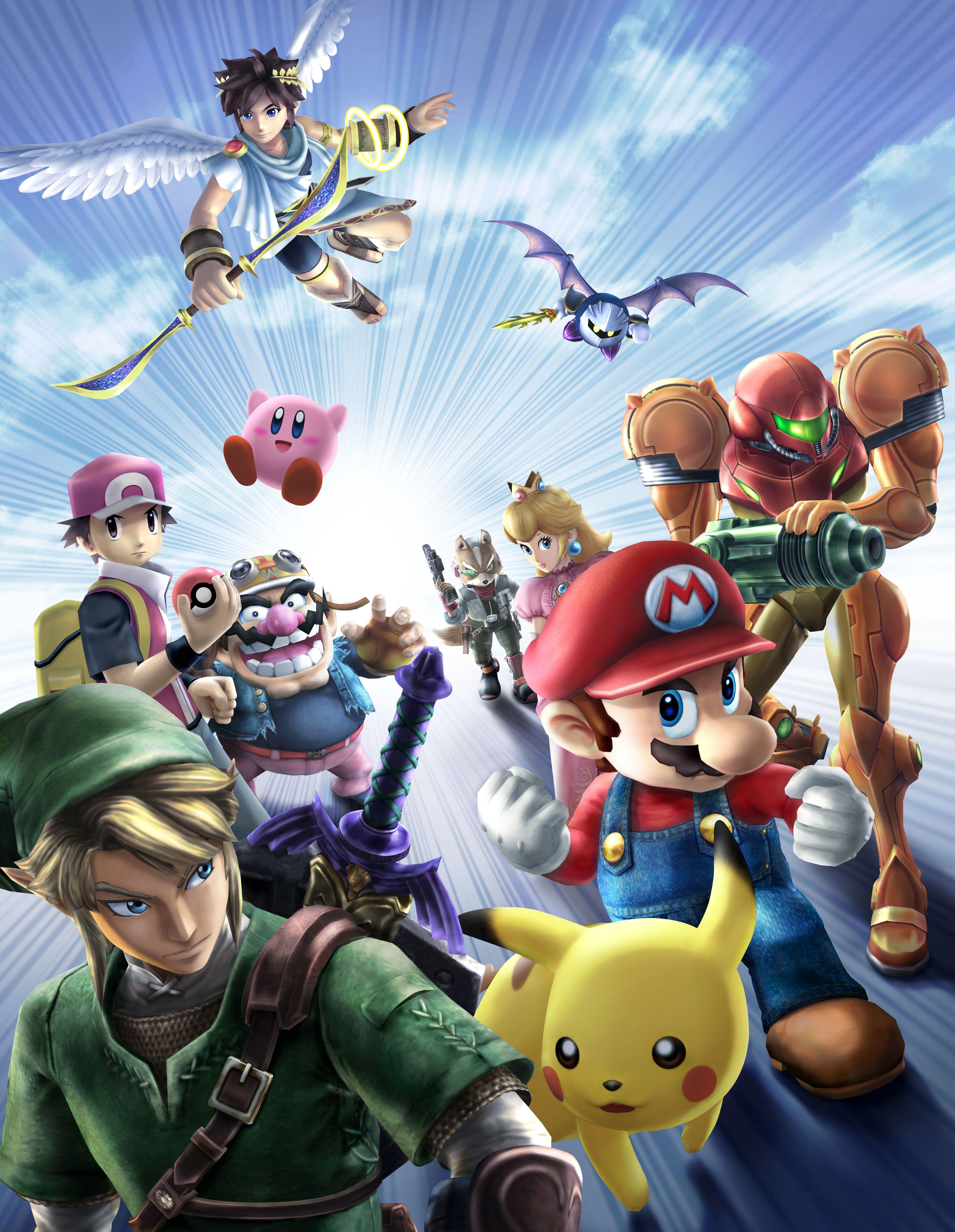 Super Smash Bros Brawl Poster Super Smash Bros Brawl Smash Bros Nintendo Super Smash Bros