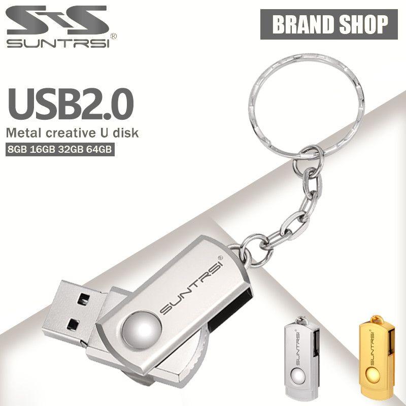 Keychain Metal Usb Flash Drive Mini Pen Drive 128gb 64gb 32gb 16gb Usb 2.0 Flash Drive Pendrive Usb Stick Custom Logo Usb Flash Computer & Office