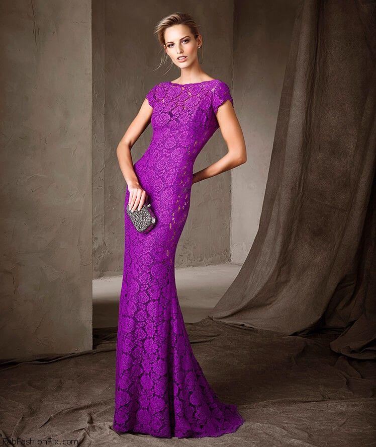 Pronovias purple lace gown from Cocktail Collection 2017. #pronovias ...