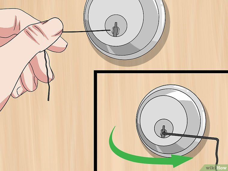 How To Open A Locked Door With A Bobby Pin 11 Steps In 2020 Bobby Pins Picking Locks Bobby Pins Deadbolt Lock
