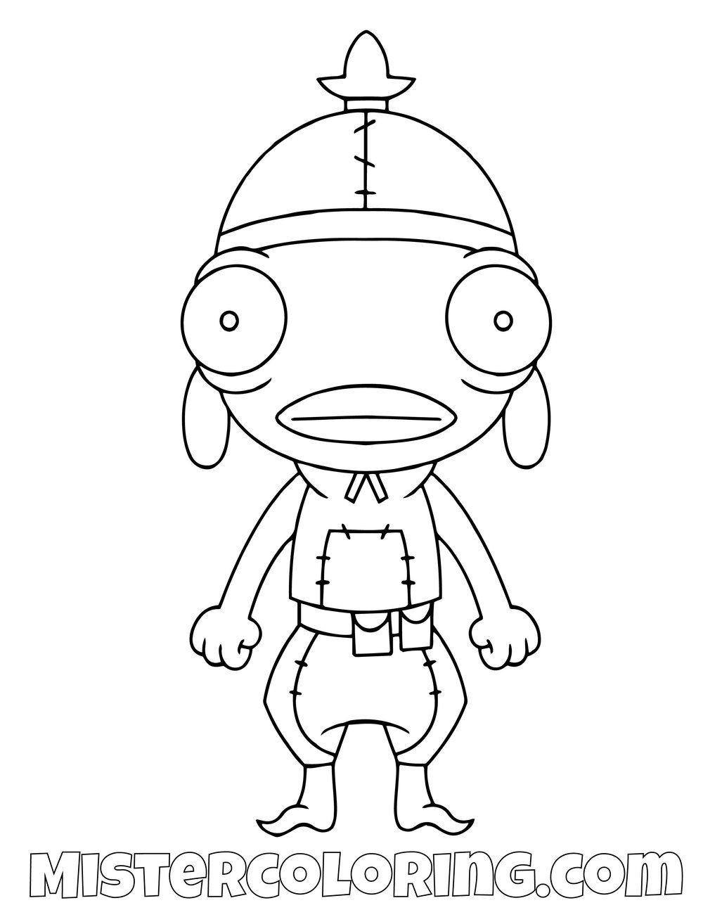 Fishstick Chibi Skin Fortnite Coloring Page Cartoon Coloring Pages Coloring Pages Coloring Pages For Kids