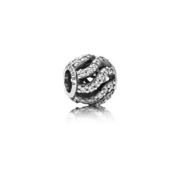 [Pandora] Winter Wisp charm Authentic Pandora Winter Wisp charm. A sweeping openwork design and 48 pavé-set cubic zirconia makes this shimmering sterling silver charm. Stored in box in pet free/smoke free home. Pandora Jewelry Bracelets