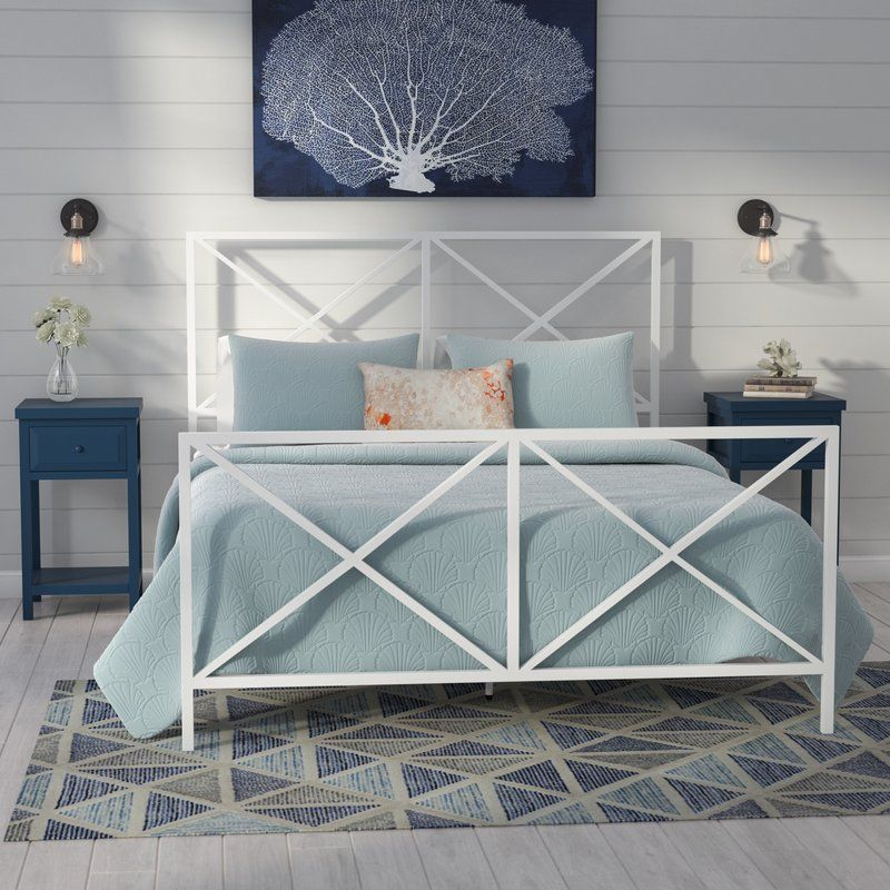 Ormond Beach All In One X Gloss White Metal Bed White Metal Bed