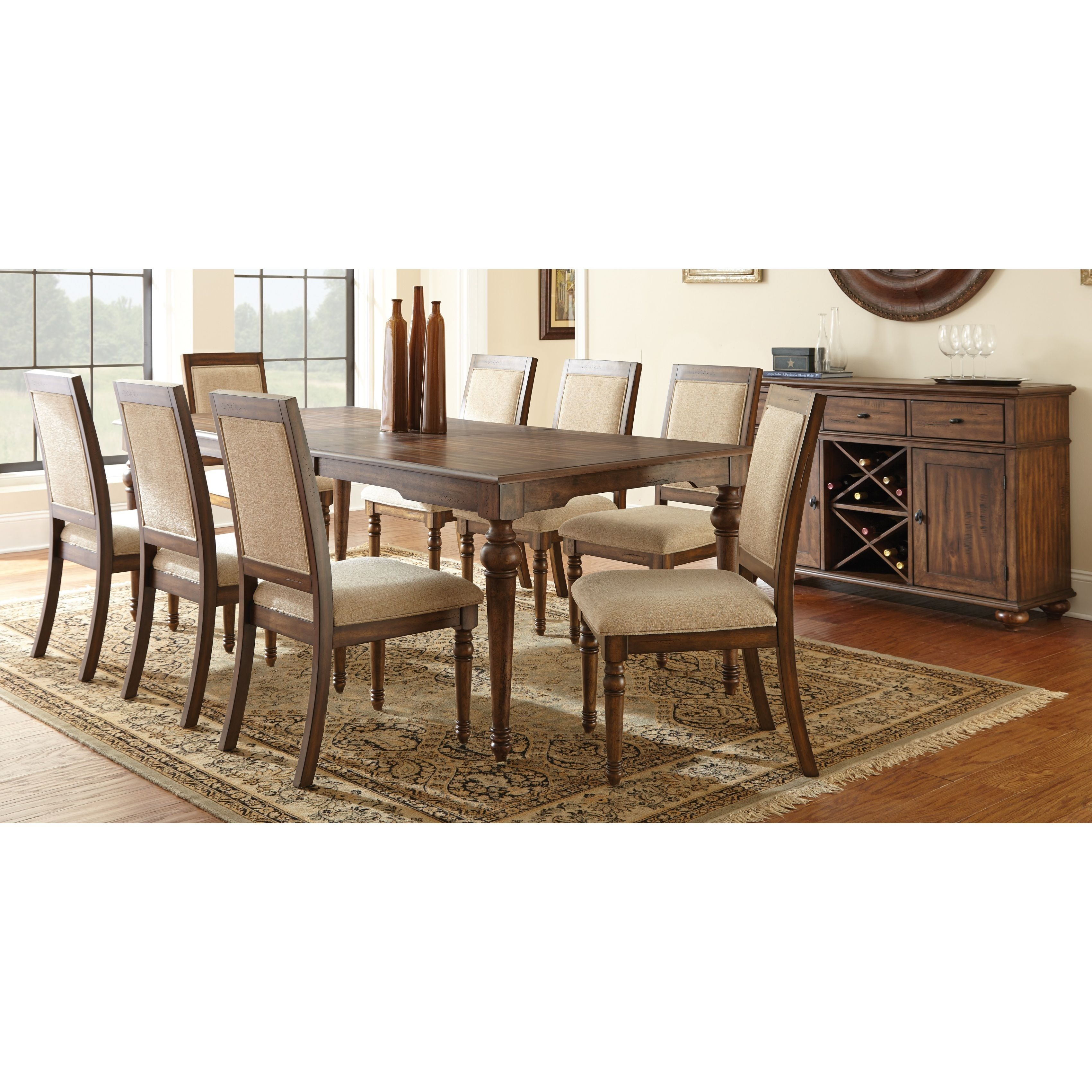Update Your Dining Room With The Beautiful Robyn Collection Finished In Warm Brown