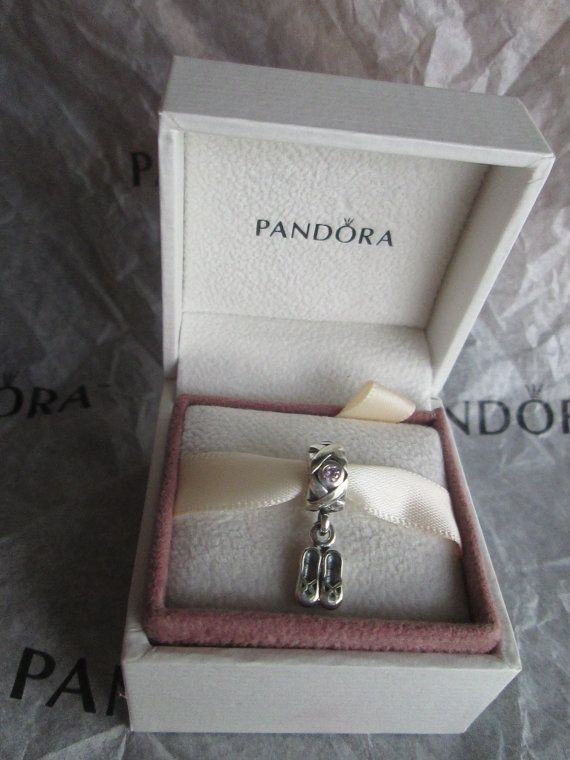 c5ff5ac2af6 Authentic Pandora Charm For Bracelet Ballet Slippers Dancing Dangle Shoes  with pink CZ with original BOX!