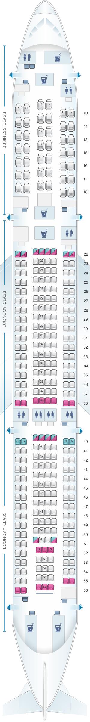 cathay pacific 333 seat map Thai Airways Airbus A330 Seat Map لم يسبق له مثيل الصور Tier3 Xyz cathay pacific 333 seat map
