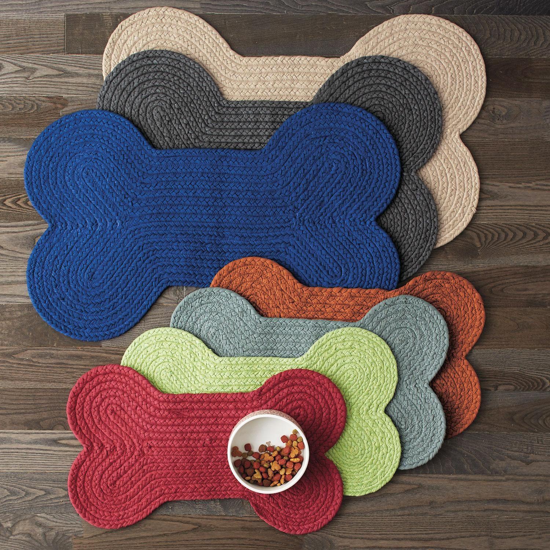 Dog Bone Shaped Feeding Mat At The Company Store Pets Pet Supplies Dog Bowls Large Crochet Dog Dog Store Dog Accessory Bag