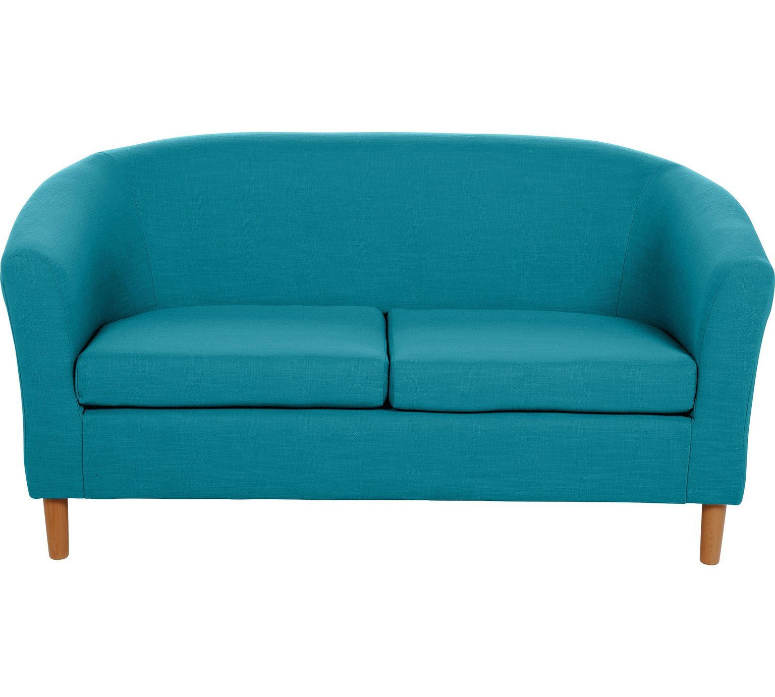 Buy HOME 2 Seater Fabric Tub Sofa - Teal at Argos.co.uk - Your ...