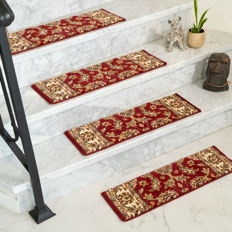 Best Baylis Red Stair Tread Stair Treads Carpet Stair Treads 400 x 300