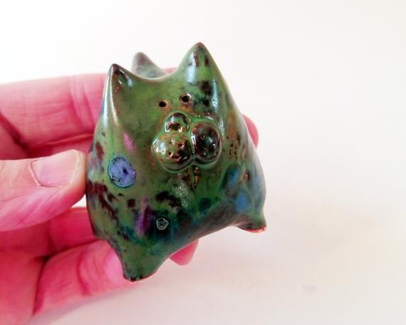 Ceramic Cat, Quirky Cat, Cat Gifts, For Cat Lovers, Miniature Animals, Pocket Hug, Cute Cat Gifts, F