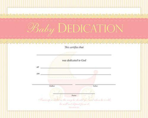 Bdc Baby Dedication Certificate  Church Nursery