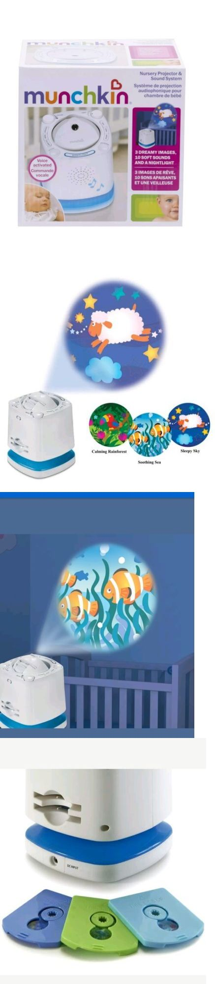 Night Lights 121153 Nursery Voice Activated Sleep Projector Sound System And Baby Soother Munchkin It Now Only 18 On Ebay