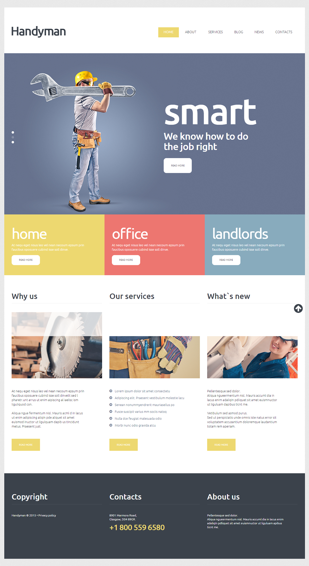 Handyman Services Joomla Template Joomla Templates Website Template Design Handyman