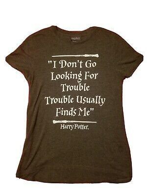 Harry Potter Girls Looking For Trouble Xs Small Tee TM Warner Bros 14x25 | eBay