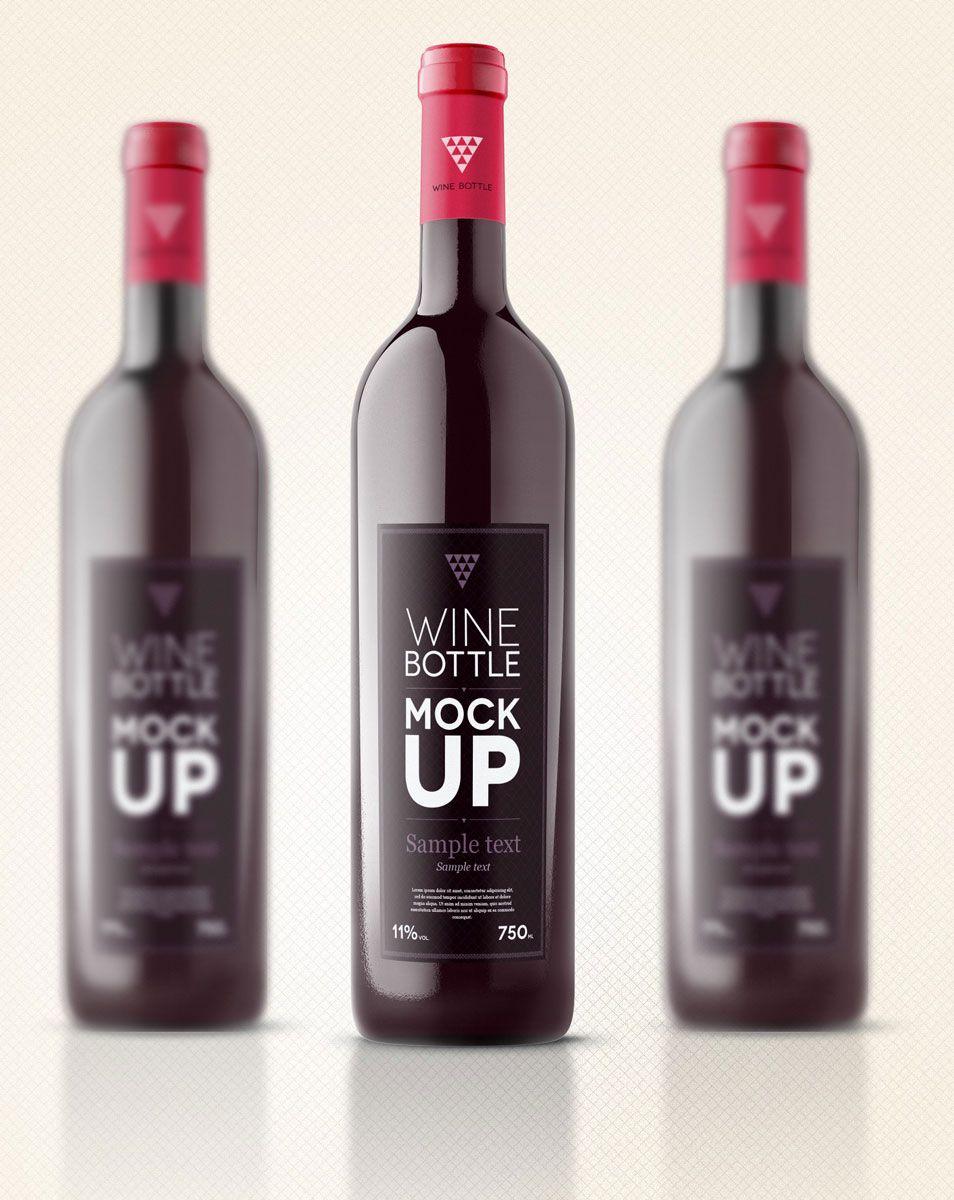 500 Free Mockup Templates Psd Designs Css Author Bottle Mockup Wine Bottle Wine Bottle Label Design