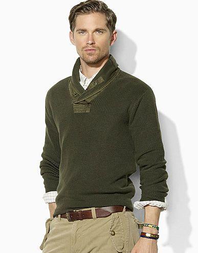f4c688f3a Polo Ralph Lauren shawl collar Sweater