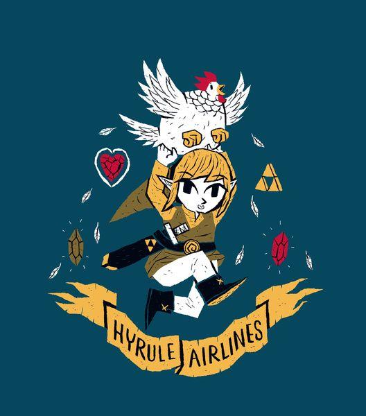 Hyrule Airlines artwork by Louis Roskosch.