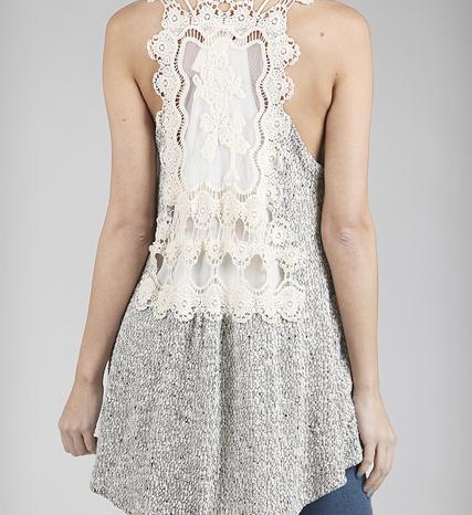 Lace Back Vest