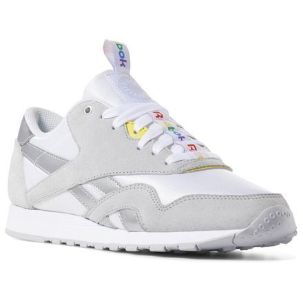 d1d8a19094 Reebok Shoes Women's Classic Nylon x SoulCycle in White/Cold Grey ...