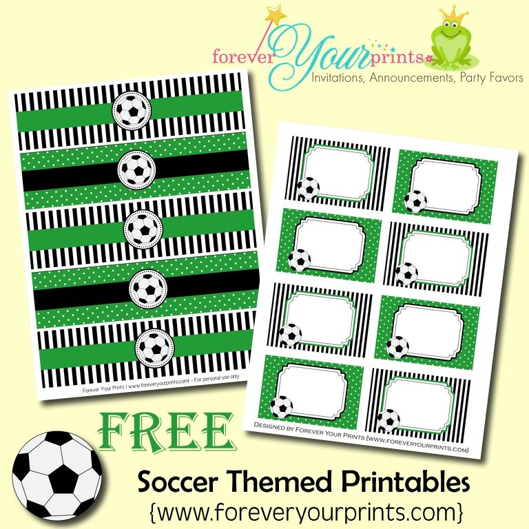 FREE Soccer Theme Printables | Soccer party, Printing and Free