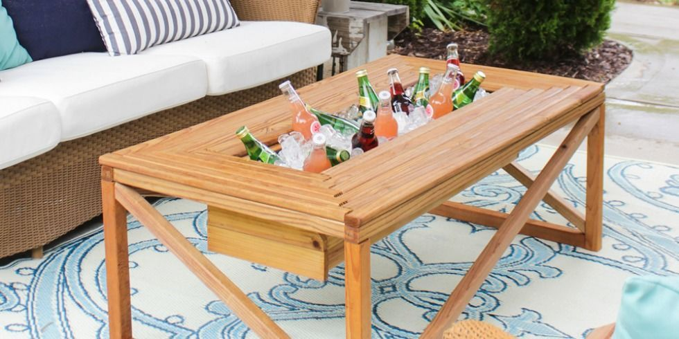 The Cooler Coffee Table Is A Genius Idea Outdoor Coffee Tables