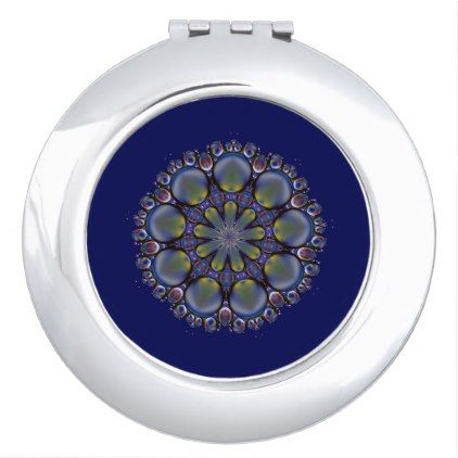 Galactic Abstract Makeup Mirror Zazzle Com Blue Styles