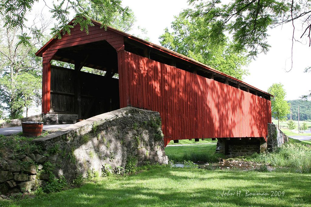 Poole Forge Bridge The Poole Forge Covered Bridge Is In Covered Bridges National Register Of Historic Places House Styles