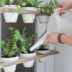Custom Potted Hanging Herb Garden DIY #hangingherbgardens Custom Potted Hanging Herb Garden DIY #hangingherbgardens