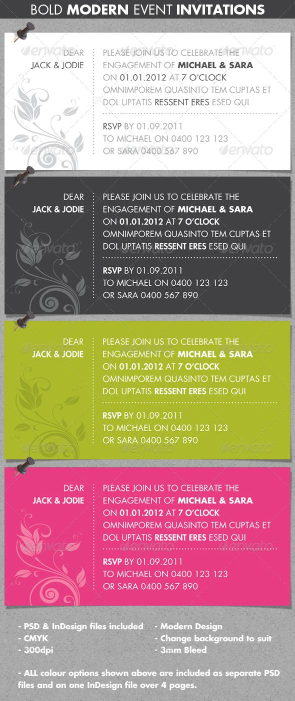 Bold Modern Event Invitations | Pinterest