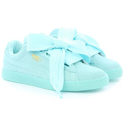 puma heart basket mint