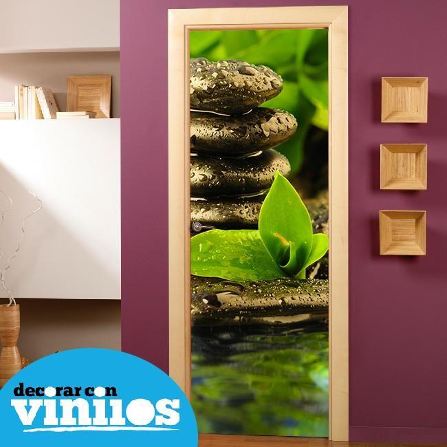 Vinilo decorativo para puertas zen vinilos para puertas - Vinilos para puerta ...