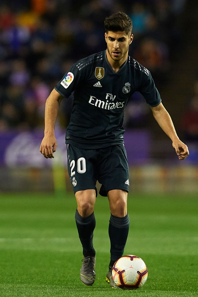 Marco Asensio of Real Madrid in action during the La Liga ...